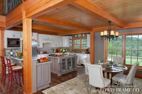 Country timber frame kitchen