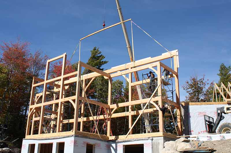 White Mountains NH timber frame home