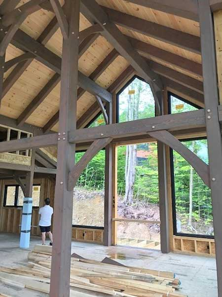 briarsmoke stain for timber frame home